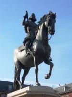 フェリペ4世の父フェリペ3世のトロット(だくあし)の騎馬像