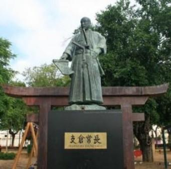 コリア・デル・リオにある支倉常長の銅像